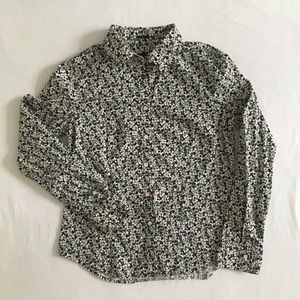 Talbots women's floral stretchy blouse, size 10